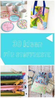 30 Ideen für Stoffreste, aus Stoff, selbermachen, Wattepads, nachhaltig, Ideen für Stoffreste, Näh-Idee, Kleinigkeiten nähen, kleine Geschenke, für Weihnachten, für Basar, Stoffreste verwerten, kostenlose Schnittmuster,