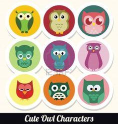 graphic owls