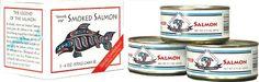 Alaska Smokehouse Smoked Salmon, 6.5-Ounce Can Gift Box (bestseller)