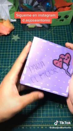 Diy Crafts Hacks, Diy Crafts For Gifts, Diy Crafts Videos, Cool Paper Crafts, Paper Crafts Origami, Happy Birthday Video, Diy Birthday, Instruções Origami, Diy For Kids
