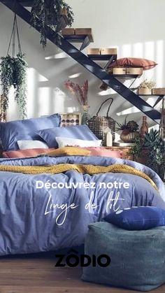 Découvrez notre nouvelle collection de linge de lit pour le Printemps ! Retrouvez notre linge de chambre sur Zodio.fr Percale De Coton, Gris Rose, Comforters, Blanket, Bed, Home, Linen Bedroom, Green Earth, Bedding