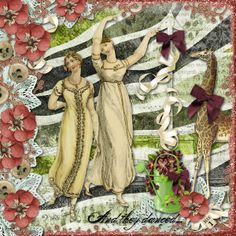 Title: The Maypole.  Created with Vintage Pretties 1 by 2 Curly Headed Monsters Designs.  Thanks for looking!