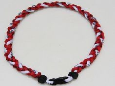Titanium Baseball Necklace 20 Inch Red and White by germanium. $3.75. titanium dipped waterproof cord that restores the body to the correct ion level...