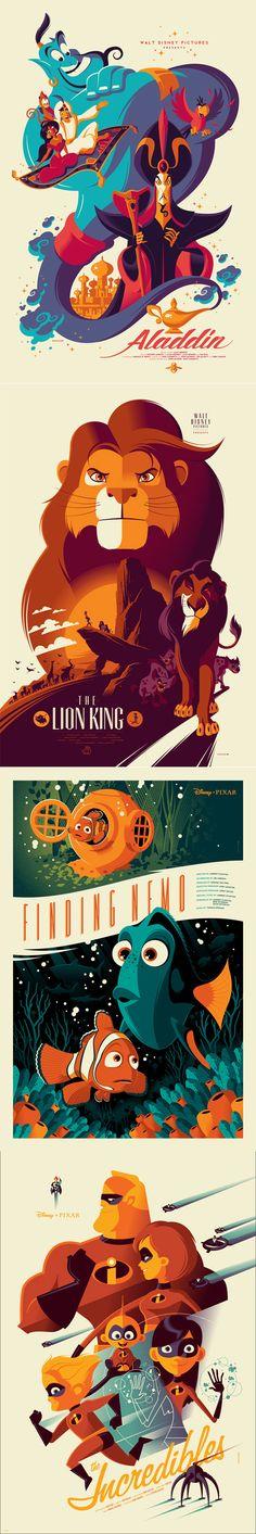 Disney posters by artist Tom Whalen