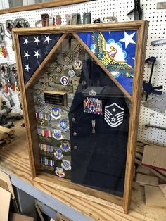 Military Uniform Shadow box FREE SHIPPING continental U.S | Etsy Military Retirement, Retirement Gifts, Retirement Ideas, Military Shadow Box, Altered Cigar Boxes, Military Memorabilia, Flag Holder, Elephant Birthday, Gifts For Boss