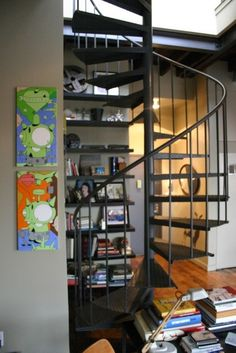 spiral staircase- we should totally have a spiral staircase in our cafe that could lead to some seating up stairs!! :)