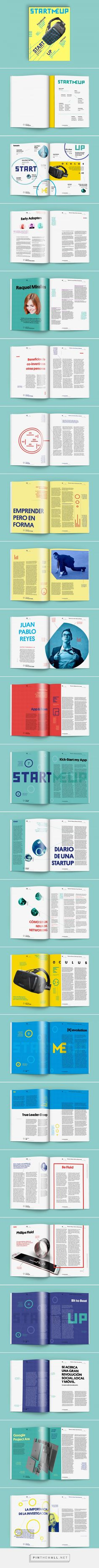 StartMeUp Mag Look & Feel on Behance - created via https://pinthemall.net