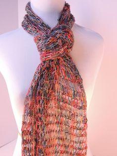 CrochetKim Free Crochet Pattern | Tunisian Drop Stitch Scarf - beautiful scarf by Kim Guzman!
