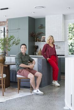 Profiled | Home of Michael and Carlene Duffy – TILES OF EZRA Kitchen Interior Inspiration, Rug Inspiration, Wire Laundry Basket, Traditional Dining Tables, New Freedom, Integrated Dishwasher, Island Bench, Green Kitchen, Duffy