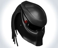 Predator Helmet | DudeIWantThat.com  I think I want the one thats carb fiber with longer dreads though.