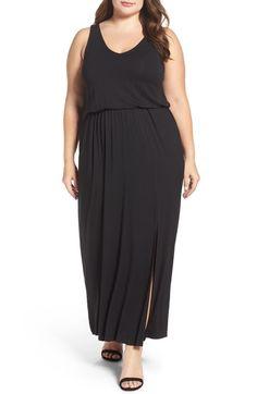 Main Image - Sejour Jersey Maxi Dress (Plus Size)