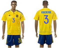 http://www.xjersey.com/ukraine-3-khacheridi-home-euro-2016-jersey.html UKRAINE 3 KHACHERIDI HOME EURO 2016 JERSEY Only $35.00 , Free Shipping!