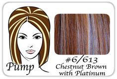 #6/613 Chestnut Brown w/ Platinum Pro Pump - Tease With Ease