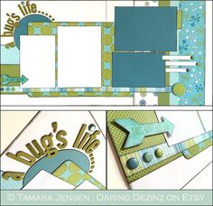A Bugs Life  This 2 page 12x12 layout is perfect for photos of your magical Disney vacation at California Adventures Bugland or Its Tough to Be a