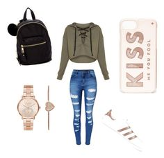 """""""So beaut 🖤"""" by milliebeth84 on Polyvore featuring WithChic, adidas Originals, Madden Girl, Kate Spade and Michael Kors"""