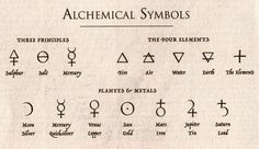 Alchemical Symbols {earth for a tattoo}