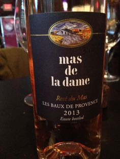 Mas de la Dame Rosé 2013 *60% Grenache, 20% Cabernet Sauvignon, 10% Syrah, 10% Mourvèdre *watermelon, strawberry and cherry on nose and palate *herbaceous *clean and super delicious! *$18-24 (bac)