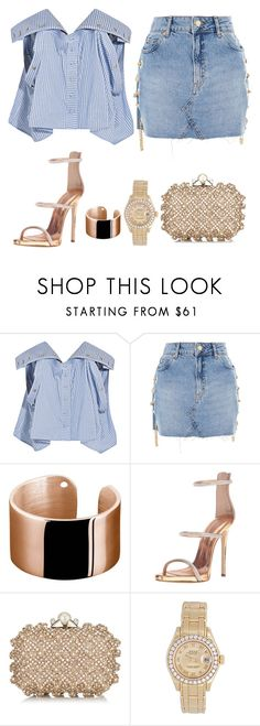 """""""Untitled #697"""" by bombfashiondreamer on Polyvore featuring Y/Project, Topshop, Ekria, Giuseppe Zanotti, Jimmy Choo and Rolex"""