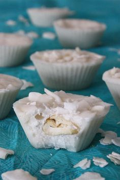 Coconut Butter Cups    So here you have it. The best sugar free treat ever!!! They keep forever, but I doubt they'll last ;) Perfect treat when you need a little something. You can sprinkle coconut flakes into the bottom of the muffin cups first or just sprinkle them on the top.    3 cups dried shredded coconut  1 vanilla bean  cashews or other nut, optional  coconut flakes, optional