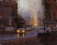 Twilight Study by Tibor Nagy Oil ~ 7.9 x 9.8