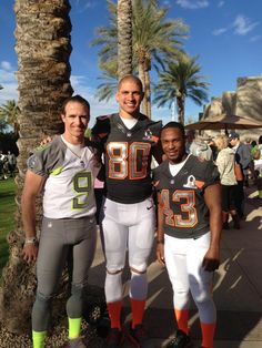 """""""Reunited and it feels so good"""" ~Drew.  The boys at 2015 ProBowl."""