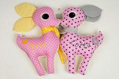Kuscheltier Reh // stuffed animal, cuddly toy deer via DaWanda.com