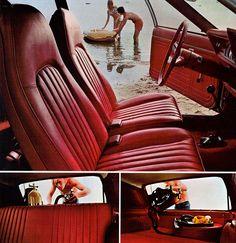 1971 AMC Gremlin interior---we had a Gremlin--don't know what year--denim seats. :)