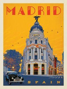 Anderson Design Group – World Travel – España: Madrid Metropolis – Poster City, Poster On, Pub Vintage, Madrid Travel, Foto Madrid, Vintage Travel Posters, Spain Travel, Spain Madrid, Instagram