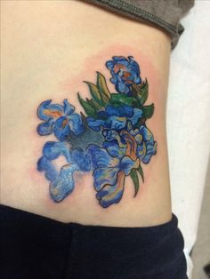 #VanGogh inspired tattoo based on his painting of #irises