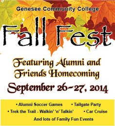 GCC FALL FEST  September 26-27, 2014