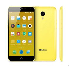 Meizu M1 Note smartphone use 5.5 inch screen, installed Flyme 4.0 OS, 2GB RAM + 16GB ROM with MT6752 Octa Core 1.7GHz processor, has 5MP front + 13MP rear double camera.