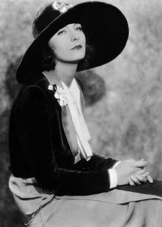 """Greta Garbo... """" floppy hat fashion... very popular in that era... """" ~"""