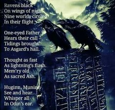 HUGINN AND MUNINN THOUGHTS AND MIND