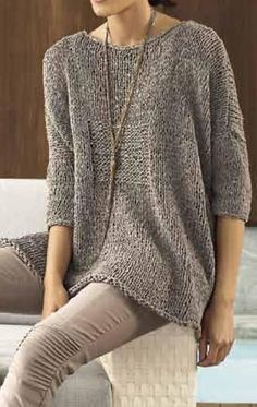 Ladies Cardigan Knitting Patterns, Knitting Stitches, Knitting Patterns Free, Hand Knitting, Handgestrickte Pullover, Hand Knitted Sweaters, Loose Knit Sweaters, Knit Fashion, Winter Sweaters