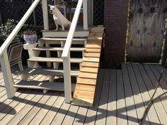 Charmant Dog Ramp Ideas For The Back Yard