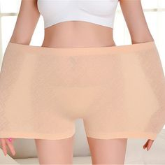 1d77f24548b78 L-3XL Women Seamless Super Elastic Cotton Boyshorts High Waist Body Shaping  Underwear