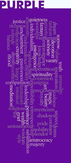 My sister loved purple!  It will forever make me think of her. <3 <3 <3