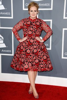 Adele's look at the 2013 Grammy Awards.