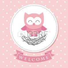 welcome card design bambino illustrazione vettoriale Archivio Fotografico