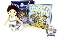 The Story of Funukkah Boy Plush Doll & Book Set Case Pack 12