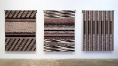 Fragmented Memory(2013)-A Jacquard woven triptych of digital self portraits by Brooklyn artist, Phillip David Stearns