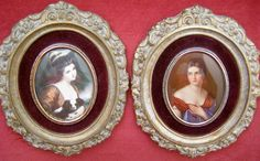 Vintage Cameo Creation Gorgeous Pictures - Pauline Bonaparte and Lady Hamilton by Something2SingAbout on Etsy