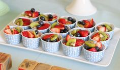 fruit served in individual treat cups