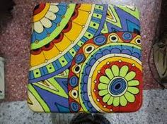 Resultado de imagen para banquitos pintados a mano Hand Painted Stools, Painted Pots, Hand Painted Furniture, Painting Tips, Stone Painting, Painted Sticks, Rustic, Canvas, How To Make