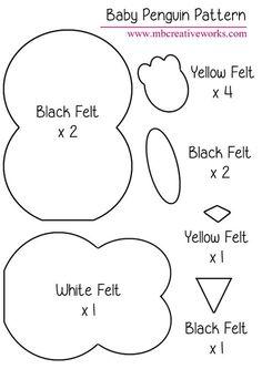 Felt Penguin Pattern More