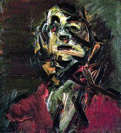 Head Of JYM No 1, Frank Auerbach, 1981
