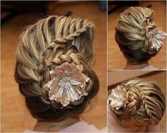 Spiral French braid updo