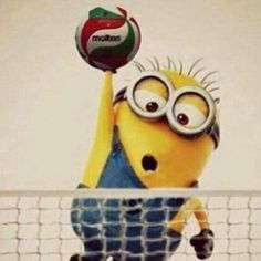 Minion playing volleyball adorable!