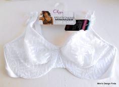 6f2e32f0aea46 OLGA Sheer Leaves Breathtaking Minimizer Bra  NEW 38DD 35519 White Underwire  NWT