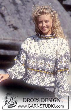 Nordic - Free knitting patterns and crochet patterns by DROPS Design Sweater Knitting Patterns, Lace Knitting, Knit Crochet, Drops Patterns, Loom Patterns, Crochet Patterns, Drops Design, Pull Jacquard, Norwegian Knitting